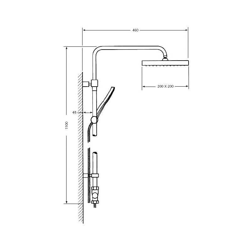 columna de ducha termostática Serie 1000