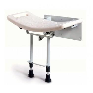 Asiento de ducha plegable de acero pintado y polipropileno
