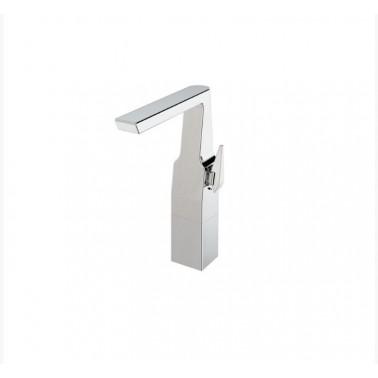 Grifo alto para lavabo monomando con apertura por maneta serie Alia Galindo