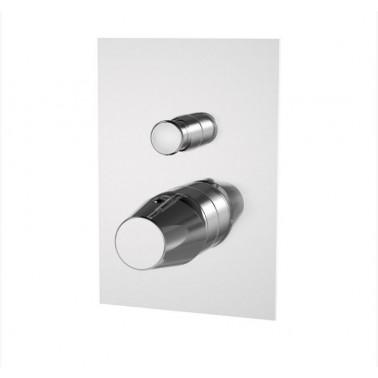 Grifo monomando baño-ducha para instalación mural empotrable serie Livra Galindo