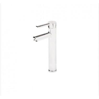 Grifo alto eco monomando para lavabo de apertura por maneta serie Karim Due Galindo