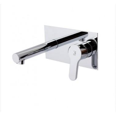 Grifo monomando para lavabo de instalación mural Serie Zip Plus Galindo