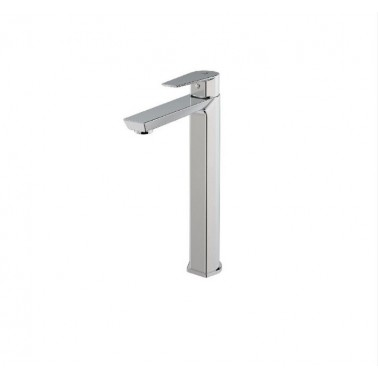 Grifo alto monomando para lavabo con apertura por maneta serie Aroha Galindo