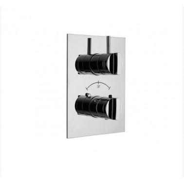 Mecanismo de ducha termostático empotrable 3/4 de 2 entrada y 5 salidas Galindo