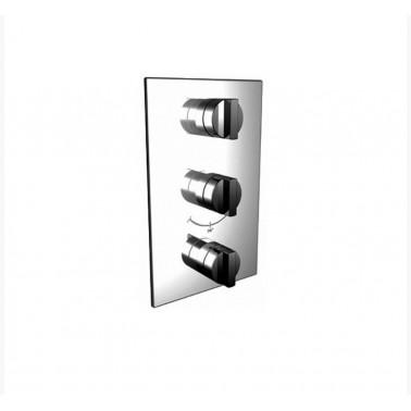 Mecanismo baño-ducha termostático empotrable 3/4 vertical de 2 salidas Galindo