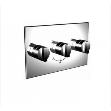 Mecanismo baño-ducha termostático empotrable 3/4 horizontal de 2 salidas Galindo