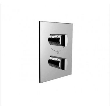 Mecanismo de ducha termostático empotrable 3/4 vertical de 1 salida Galindo