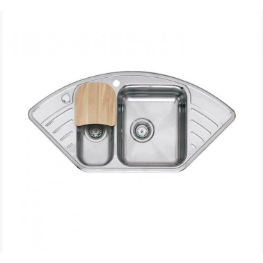 Fregadero de cocina doble seno Empire L15 Galindo