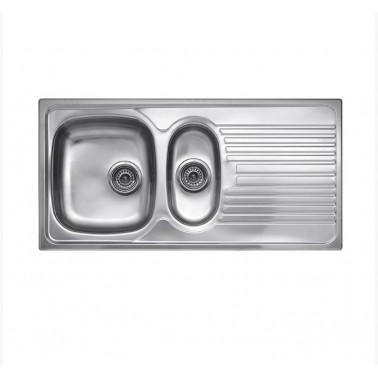 Fregadero de cocina doble seno Rex 1.5 Galindo