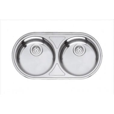 Fregadero de cocina doble seno serie Andalucía Galindo