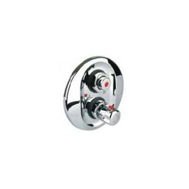 Mezclador termostático temporizado empotrado para ducha