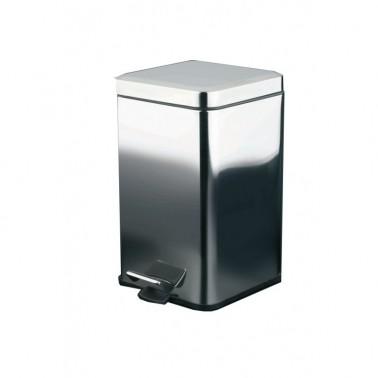 Cubo metálico cuadrado 6 L Cromados Modernos