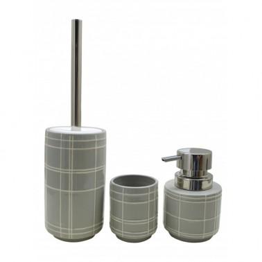 Pack de escobillero/vaso/dispensador de jabón Cromados Modernos