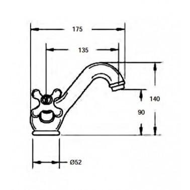 Grifo mezclador de baño con kit de ducha Serie 1600