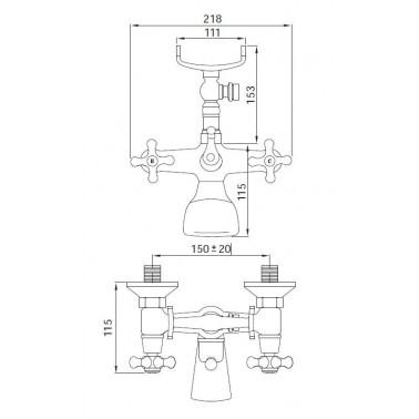 Grifo monoblock para la ducha y el baño Serie 1700