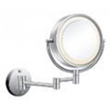 Espejo de aumento orientable de pared con luz Cromados Modernos
