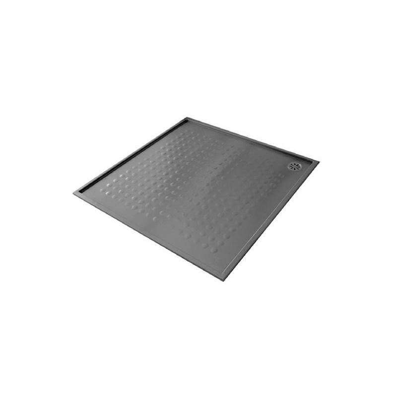 Plato de ducha extraplano en acero inox satinado