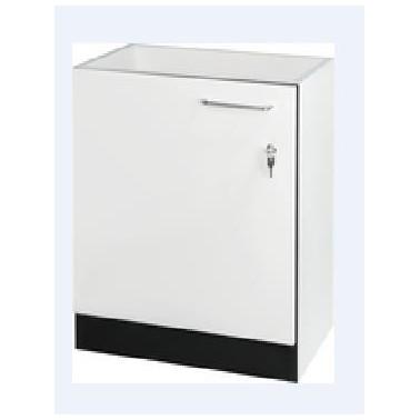 Armario inferior en color blanco cristal con apertura de la puerta a la derecha modelo MIRANIT marca Franke
