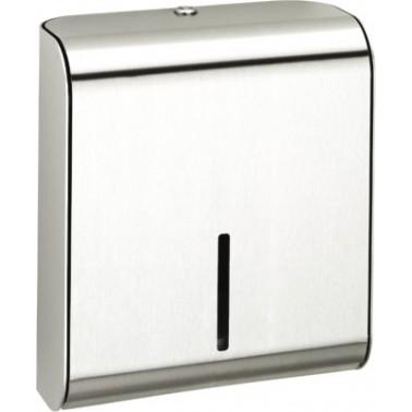 Dispensador de toallas de papel en acero de cromo níquel acabado satinado modelo XINOX marca Franke