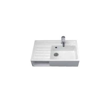 Fregadero con cubeta rectangular sin orificio para el grifo modelo MIRANIT marca Franke
