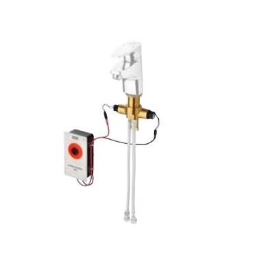 Unidad higiénica para grifo mezclador con tuberías de conexión modelo AQUAFIT marca Franke