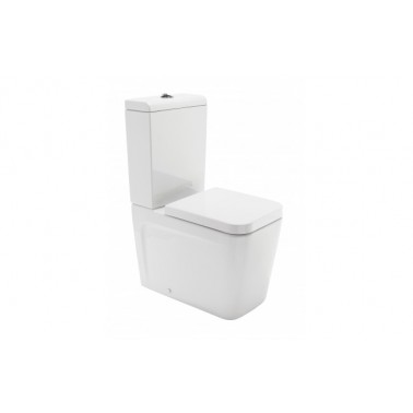 Set complete with toilet seat and lid with black cushion advance, mark Unisan