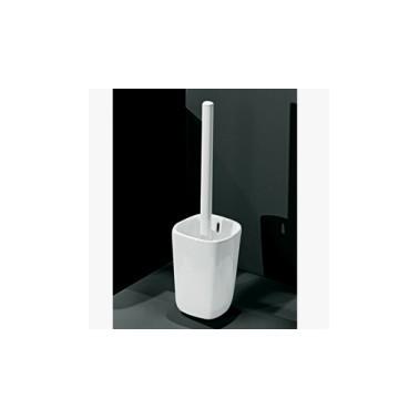 Portarollos fabricado en porcelana vitrificada blanca