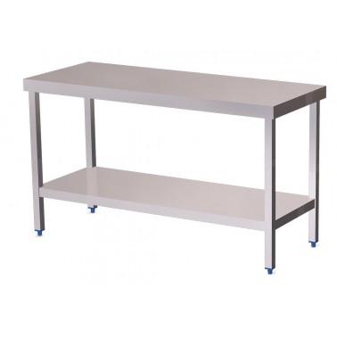 Mesa de cocina central con estante bajo de 2000x500 mm Fricosmos