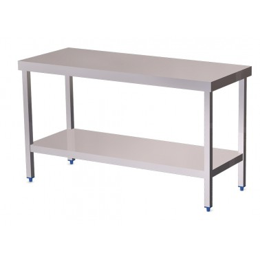 Mesa de cocina central con estante bajo de 1500x600 mm Fricosmos