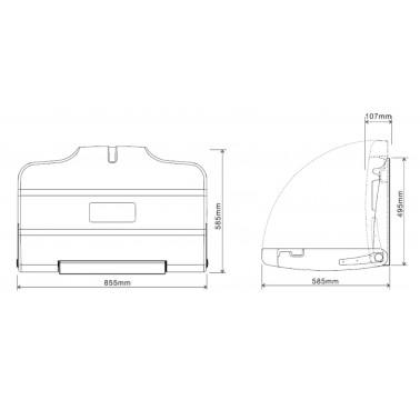 cambiador de pañales plegable a pared medidas y dimensiones