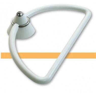 Toallero anilla fabricado en ABS acabado blanco serie 2000 Komercia