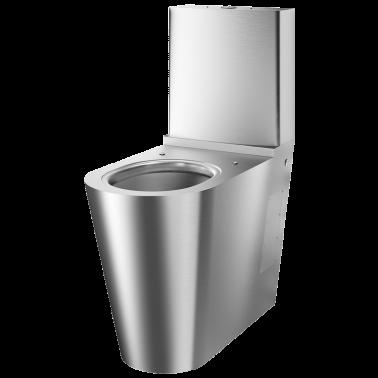 Inodoro con cisterna fabricado en acero inoxidable