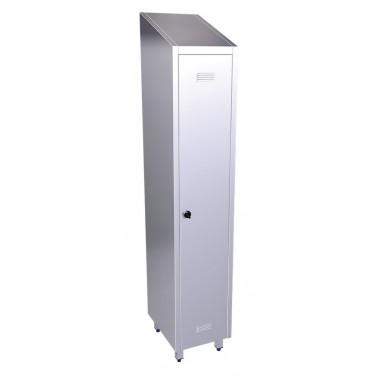 Taquilla de una puerta fabricada en acero inoxidable de 370x480x2010 mm Fricosmos