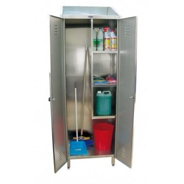 Armario para productos de limpieza con dos puertas de 680x480x2010 mm Fricosmos