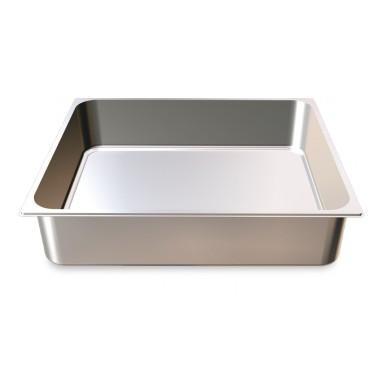 Cubeta Gastronorm 2/1 lisa de acero inoxidable AISI 304 de 650x530x100 mm Fricosmos