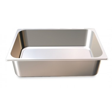 Cubeta Gastronorm 1/1 lisa de acero inoxidable AISI 304 de 530x325x65 mm Fricosmos