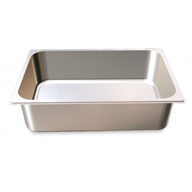 Cubeta Gastronorm 1/1 lisa de acero inoxidable AISI 304 de 530x325x100 mm Fricosmos