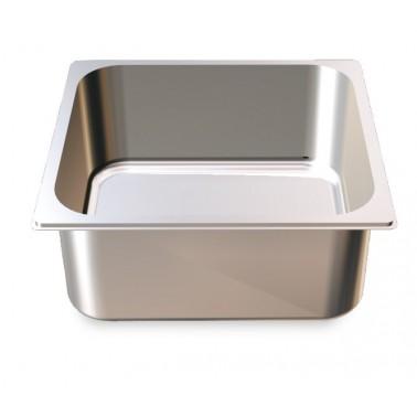 Cubeta Gastronorm 2/3 lisa de acero inoxidable AISI 304 de 354x325x100 mm Fricosmos