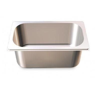 Cubeta Gastronorm 1/3 lisa de acero inoxidable AISI 304 de 325x176x100 mm Fricosmos
