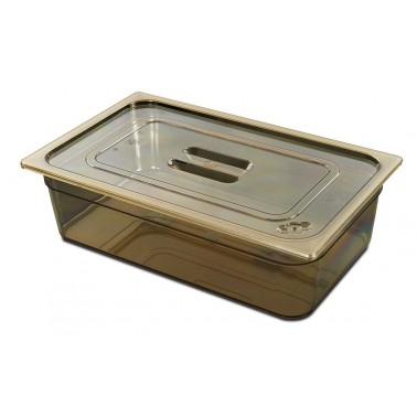 Cubeta Gastronorm 1/4 fabricada en plástico de polietersulfona de 265x162x100 mm Fricosmos