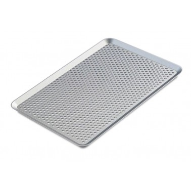 Bandeja pastelera perforada fabricada en aluminio reforzado AG5 de 600x400 mm Fricosmos