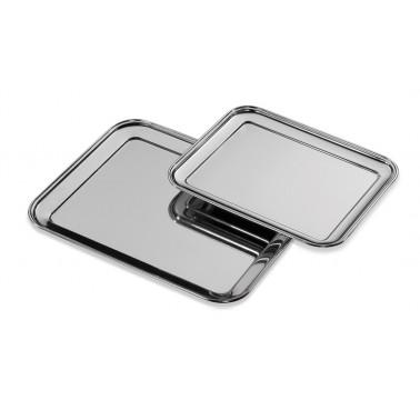 Bandeja de presentación fabricada en acero inoxidable de 360x290x20 mm Fricosmos