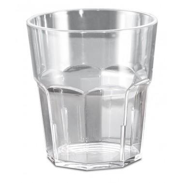 Vaso fabricado en policarbonato transparente de 80x88 mm 27cl Fricosmos