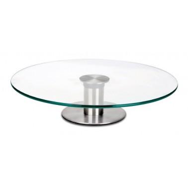 Plato de cristal giratorio para presentación de alimentos Fricosmos