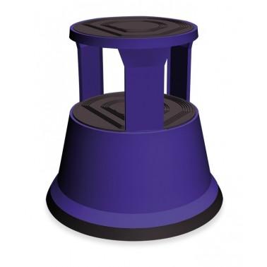 Taburete metálico con ruedas para su fácil desplazamiento en color azul Fricosmos