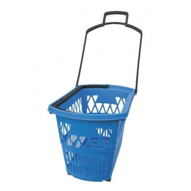 Cesto para el supermercado fabricado en polipropileno azul Fricosmos