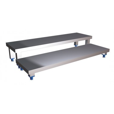 Escalones fabricados en chapa de acero inoxidable medidas 800x400 mm Fricosmos