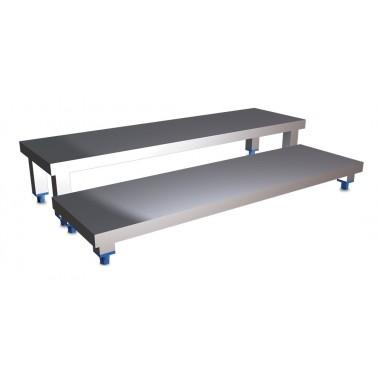 Escalones fabricados en chapa de acero inoxidable medidas 1200x400 mm Fricosmos