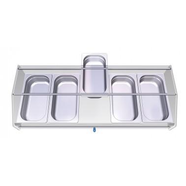 Vitrina para cubrir aperitivos con capacidad de 5 cubetas Fricosmos