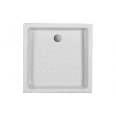 Plato de ducha de 75x75x12 mm con ala de 16 cm modelo Mosaico marca Unisan